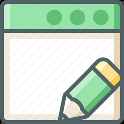 application, pencil icon