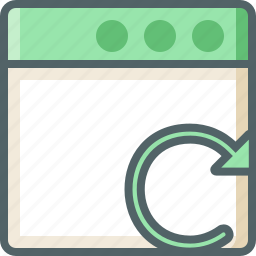 application, reload icon