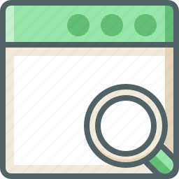 application, search icon