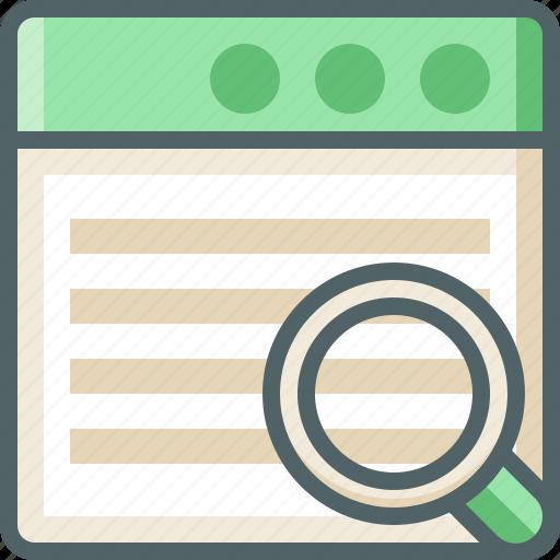 application, menu, search icon