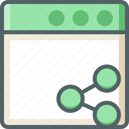 application, share icon