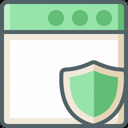 application, shield icon