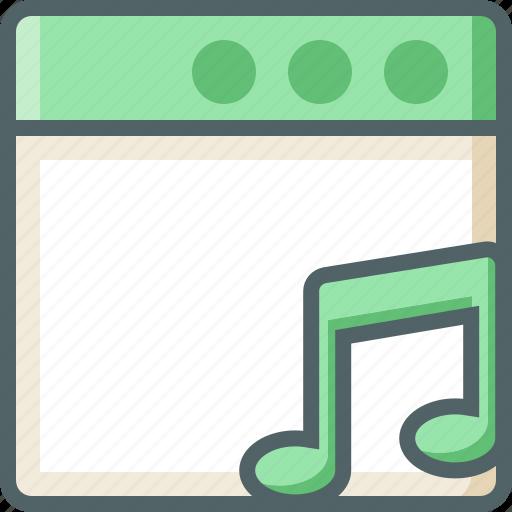 application, bar, note, single icon