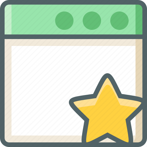 application, star icon