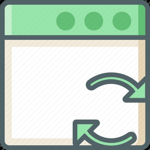 application, sync icon