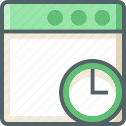 application, timer icon