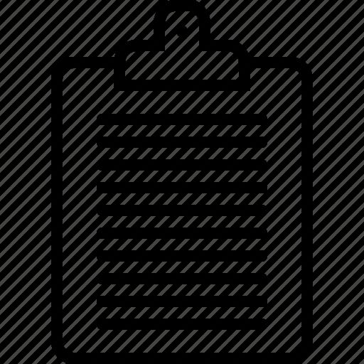 checklist, clipboard, editor, task icon