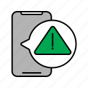 alarm, alert, attention, caution, error, notification, warning icon