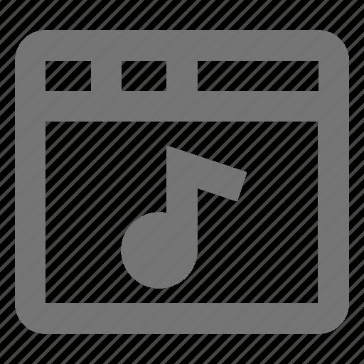 audio, browser, media, music, page, tab, web, window icon