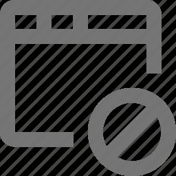 block, stop, window icon