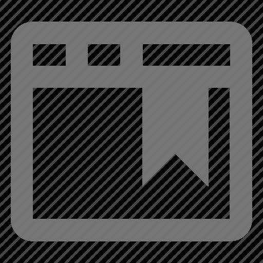 bookmark, tag, window icon