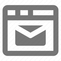 email, message, window icon