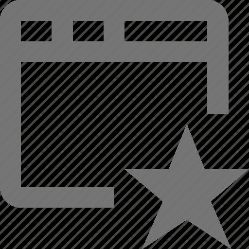 favorite, star, window icon
