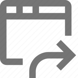 arrow, browser, forward, page, right, tab, web, window icon