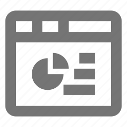 graph, pie chart, window icon