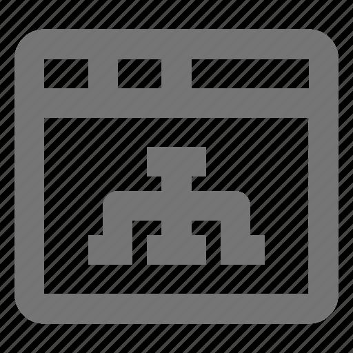 network, window icon