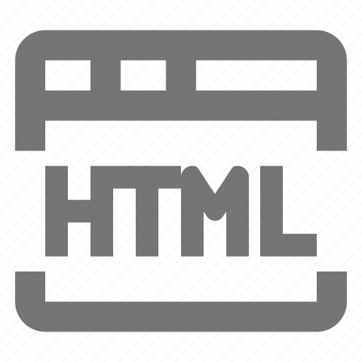 browser, code, html, language, page, tab, web, window icon
