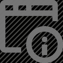 information, window icon