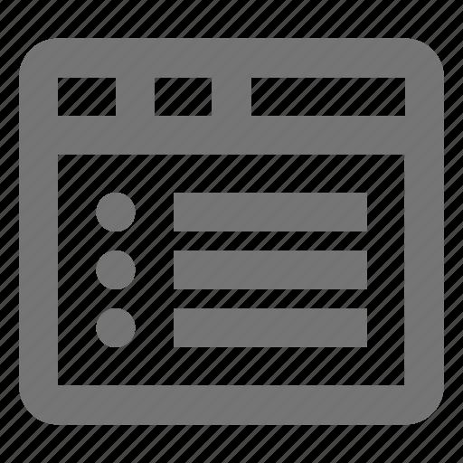 list, window icon