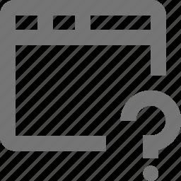 help, question, window icon