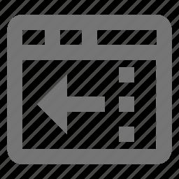 arrow, reduce, window icon