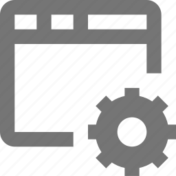 configuration, gear, settings, window icon