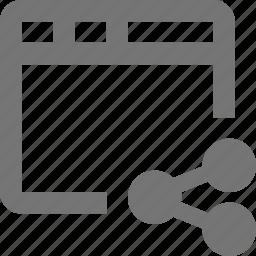 share, window icon