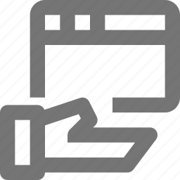 hand, share, window icon