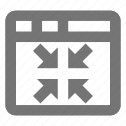 arrows, minimize, reduce, shrink, window icon