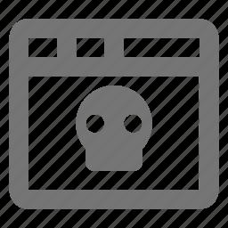 skull, window icon