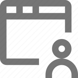 profile, users, window icon