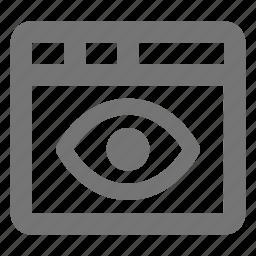 eye, view, window icon