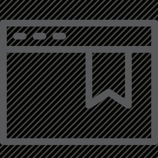 application, bookmark, browser, favorite, save, tab, terminal, window icon