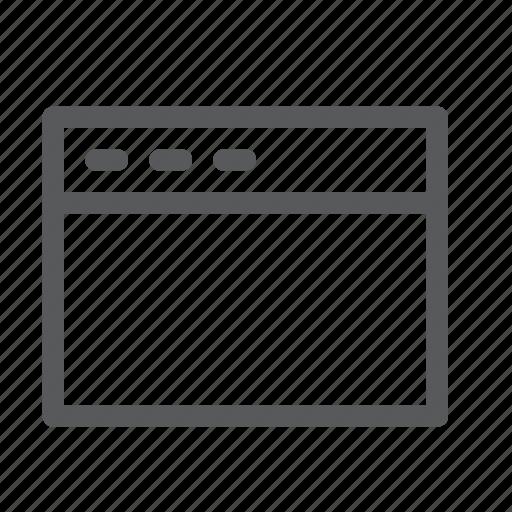 application, browser, medium, new, tab, terminal, window icon