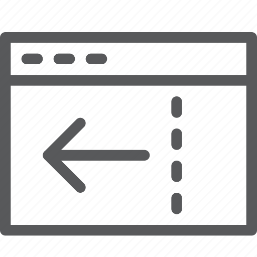 application, arrow, browser, left, reduce, terminal, window icon