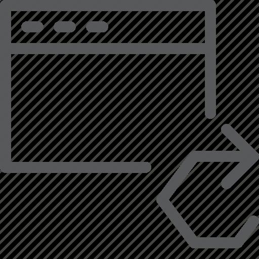 application, arrow, browser, refresh, sync, terminal, window icon