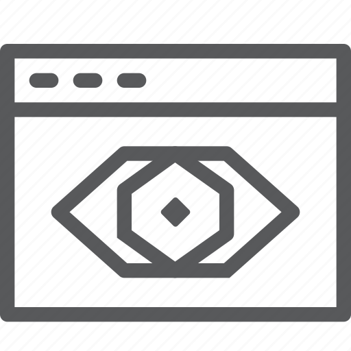 application, browser, eye, read, terminal, view, window icon