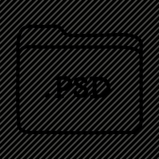 .psd, application, files, folder, folders, format, photoshop icon