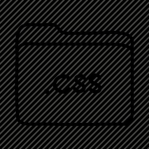 .css, application, css file, files, folder, folders, format icon