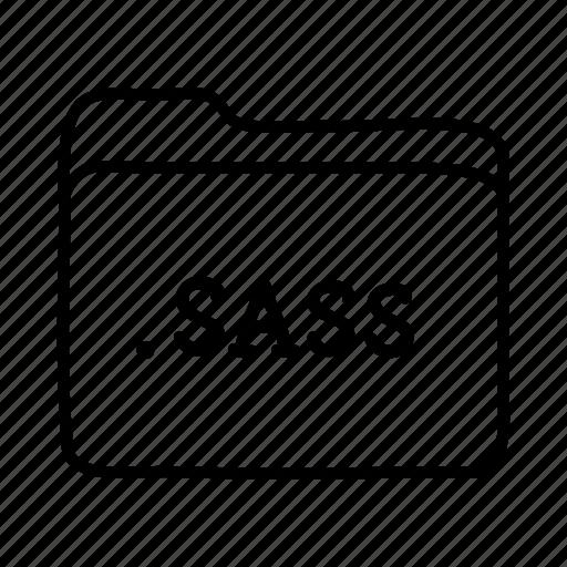 .sass, application, files, folder, folders, format, sass file icon