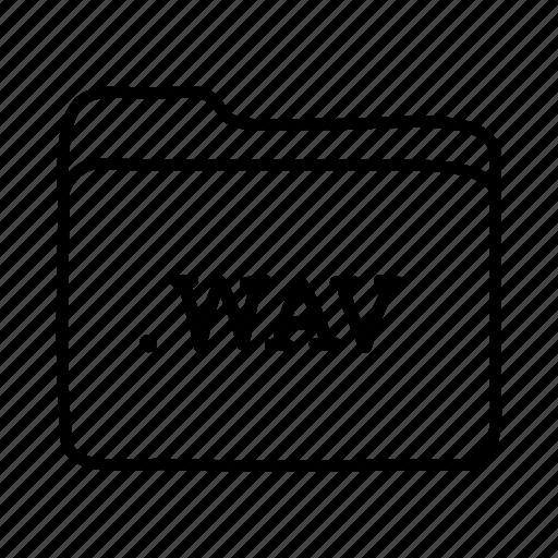 .wav, application, files, folder, folders, format, wav file icon