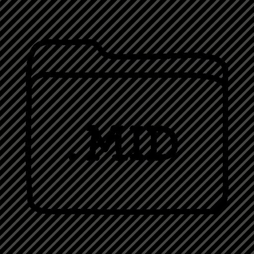 .mid, application, files, folder, folders, format, midi files icon