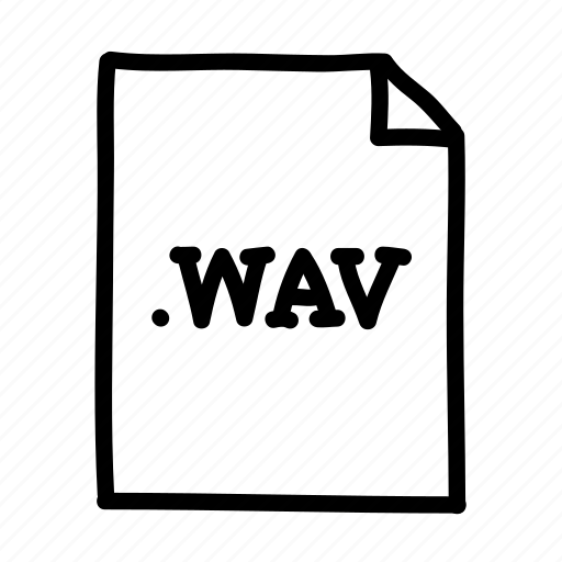.wav, document, file, files, page, sheet, wav file icon