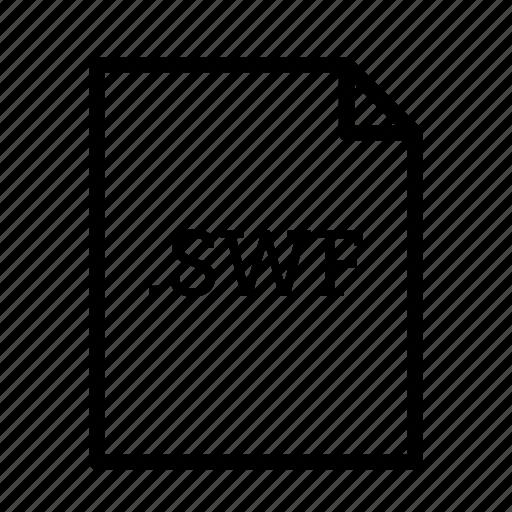 .swf, application, download, file, files, flash file, format icon