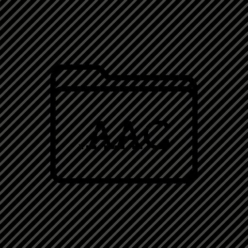 aac folder, application, files, filetype, folder, folders icon