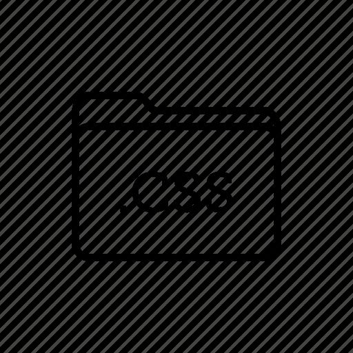 .css, application, css files, files, filetype, folder, folders icon