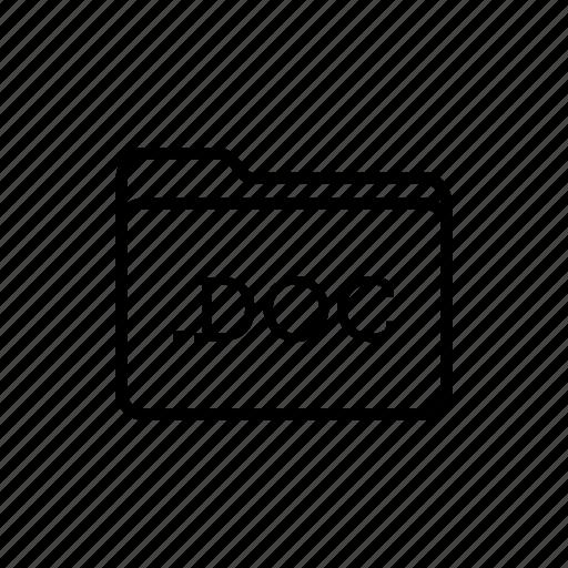 .doc, application, doc files, files, filetype, folder, folders icon