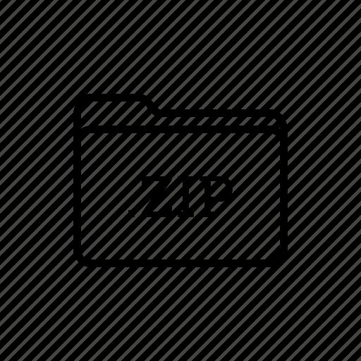 .zip, application, files, filetype, folder, folders, zip folder icon