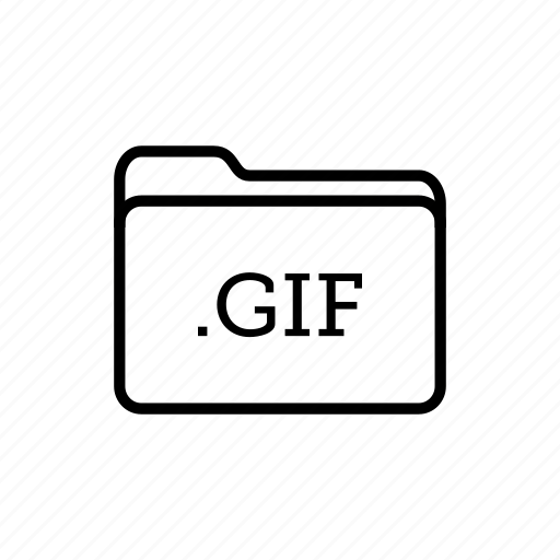 .gif, application, files, filetype, folder, folders, gif files icon