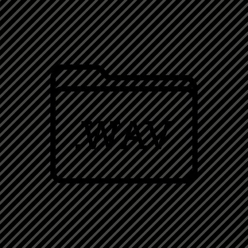.wav, application, files, filetype, folder, folders, music files icon